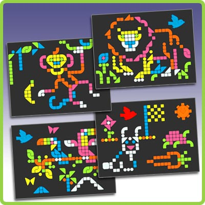 Lite brite gets a whole new look giftguide each set contains over 50 pegs and 8 reusable templates to use with your lite brite maxwellsz