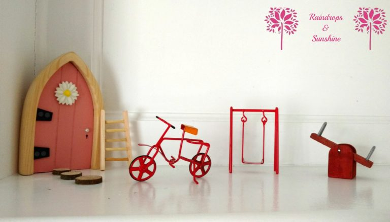 Girls Pink Fairy Door And Accessories