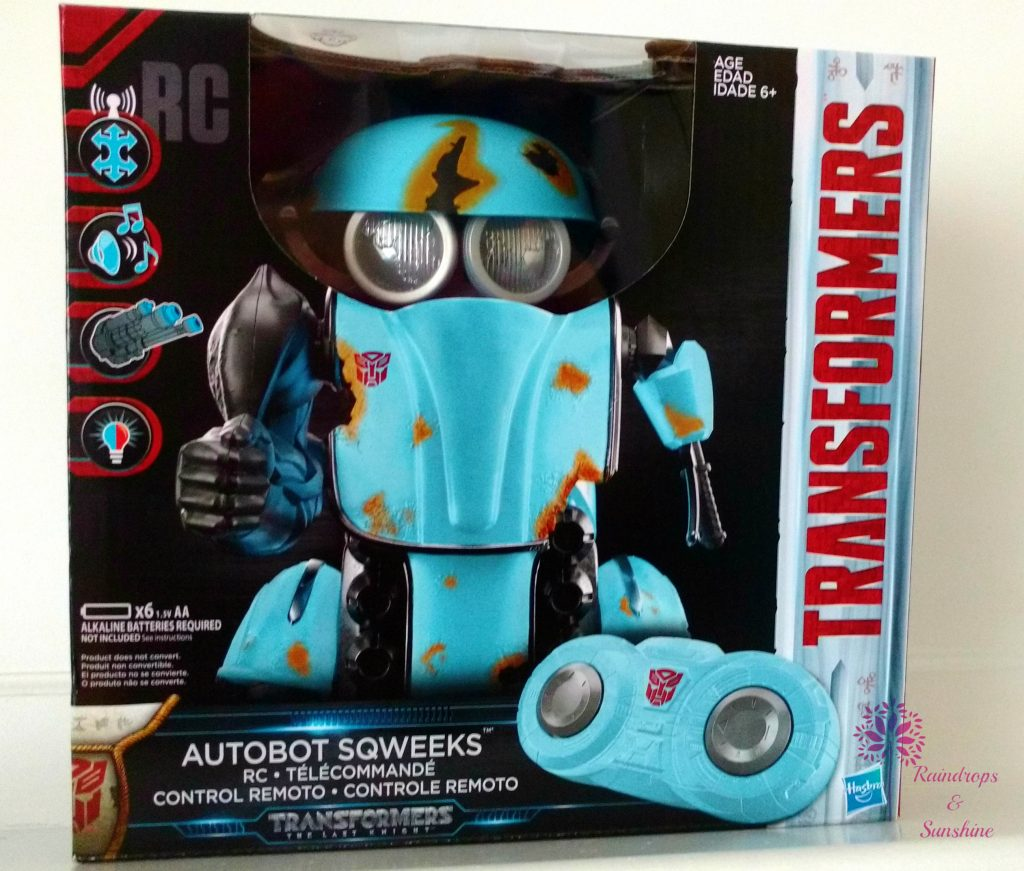 Transformers Autobot Sqweeks #HolidayGiftGuide